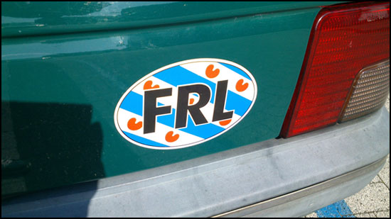 Friesian Car Sticker
