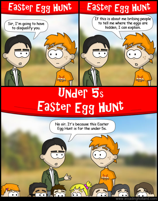 Easter Egg Hunt Comic