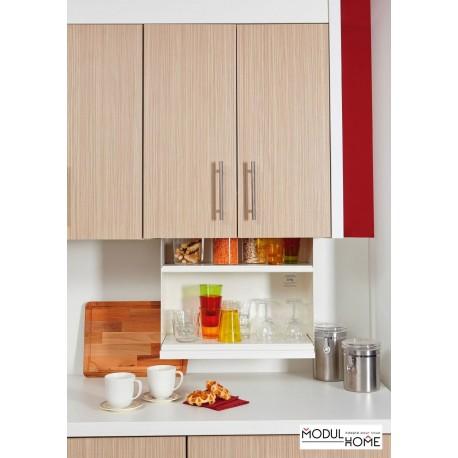 cuisine avec etageres a hauteur variable