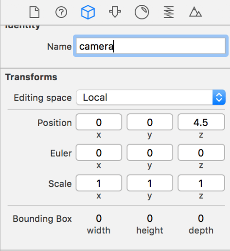 Figure 5. New values ​​for the camera settings.