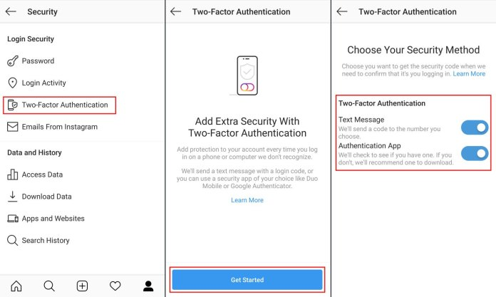 privacy security instagram screen 2