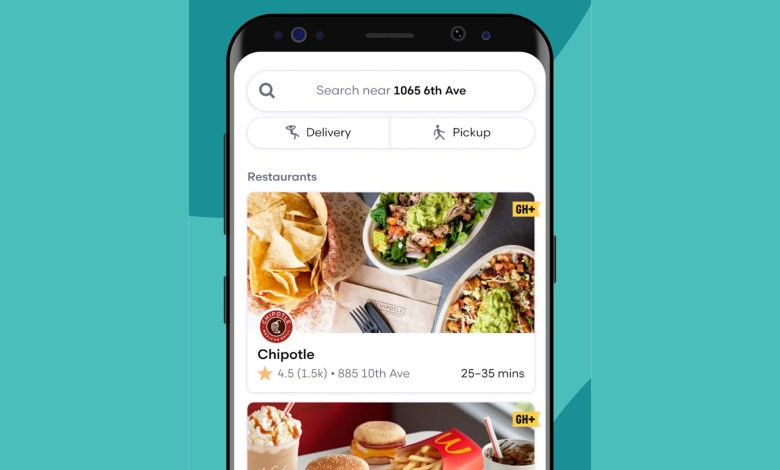 grubhub best food delivery apps for android