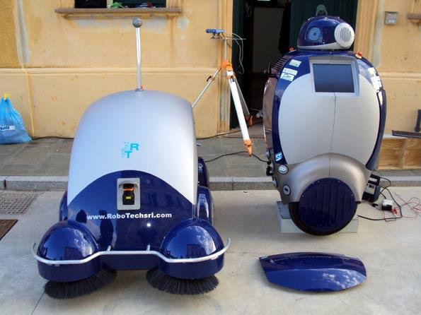 robots que limpian las calles