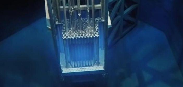 Fisión nuclear de un reactor grabado con una Go Pro