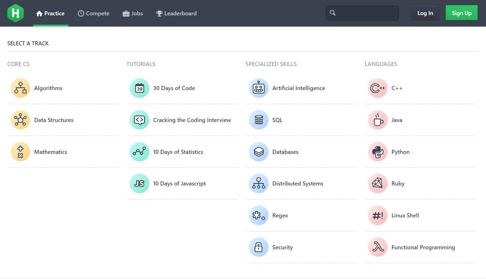 HackerRank coding challenges