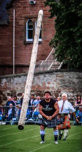 Tossing the Caber at Inverness Highland Games