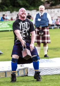 Strongmen at the Inverness Highland Games