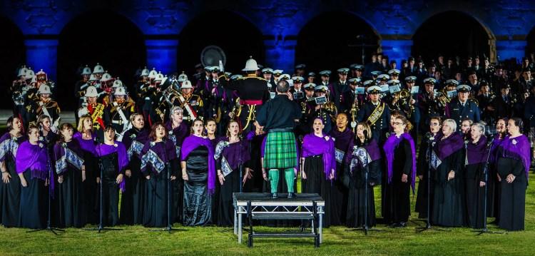 Choir at The Highland Tatoo
