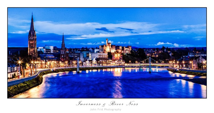 Inverness & River Ness at Night