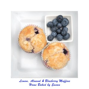 Lemon, Almond & Blueberry Muffins