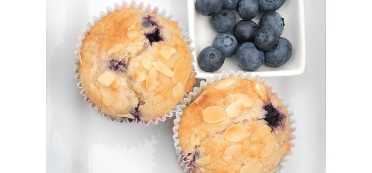 Lemon, Almond & Blueberry Muffins