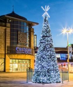 Christmas tree in Falcon Square Inverness