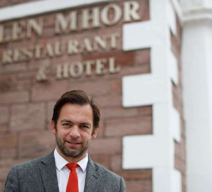 Emmanuel Moine, general manager of The Glen Mhor Hotel & Apartments, is looking forward to expanding the hotel's team in the wake of signing the Hoteliers' Charter.