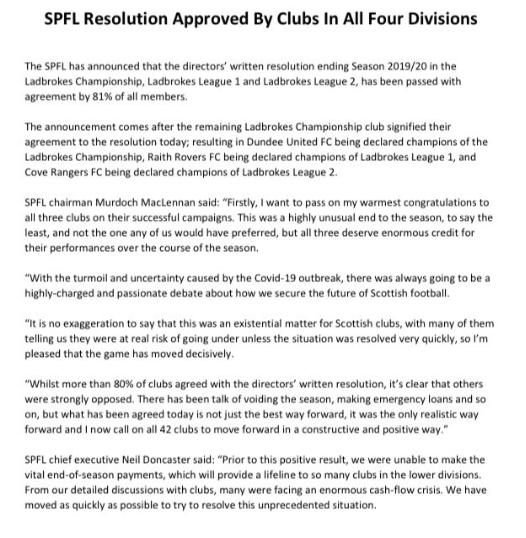 SPFL Statement 1