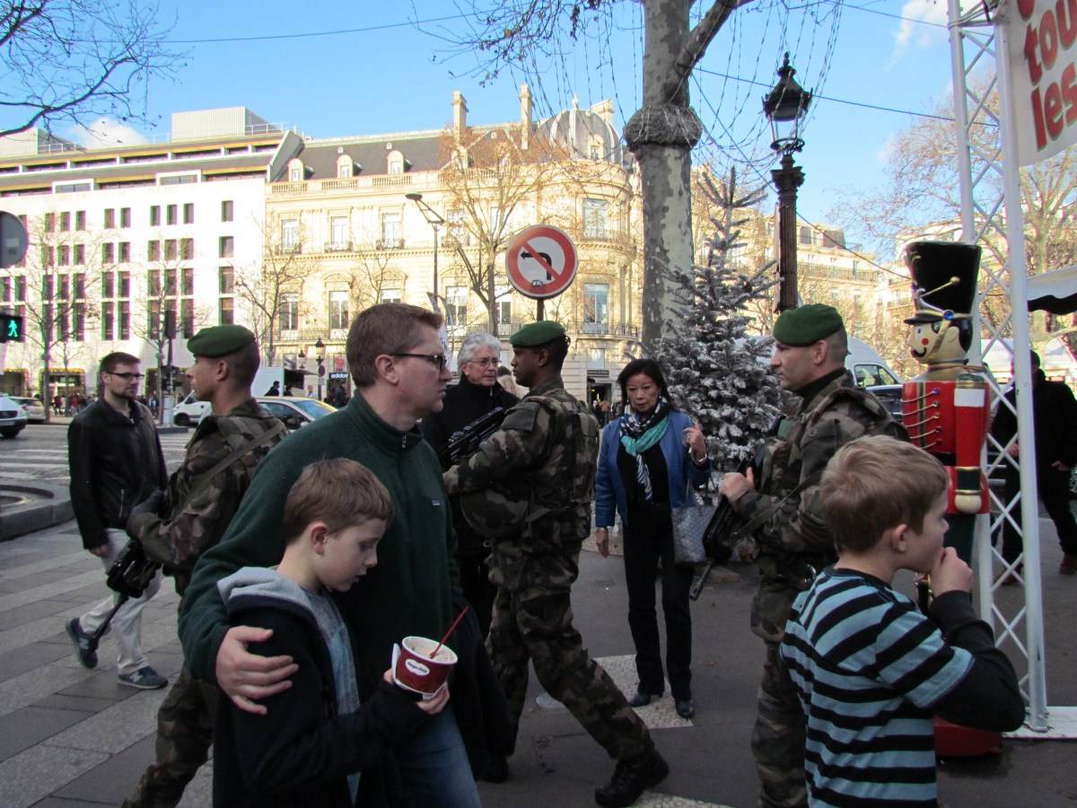 Soldiers at the Christmas market