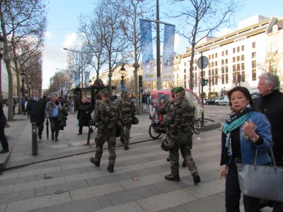 Soldiers on the Champs Elysees