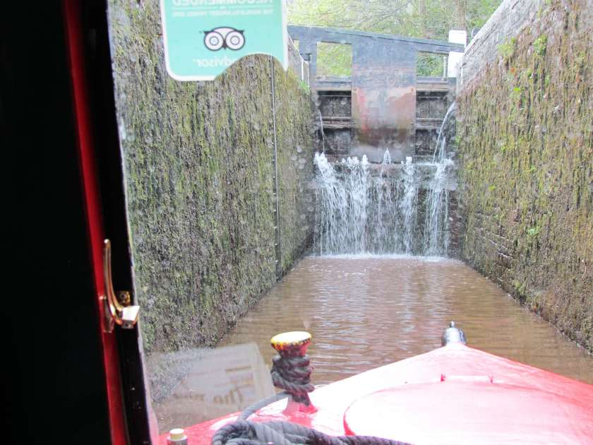 In the lock on the Brecon canal - Brecon Canal boat trip