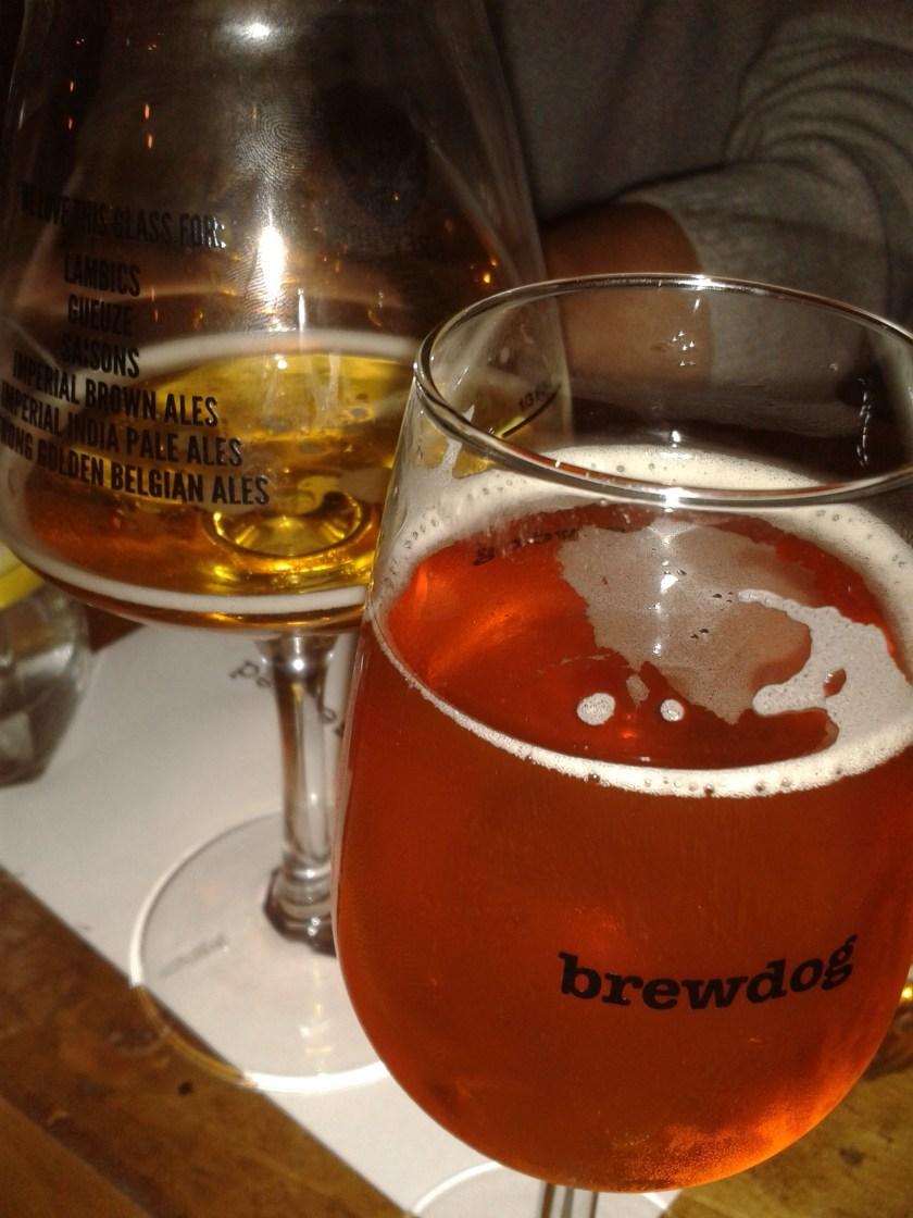 Brewdog - beer sampling