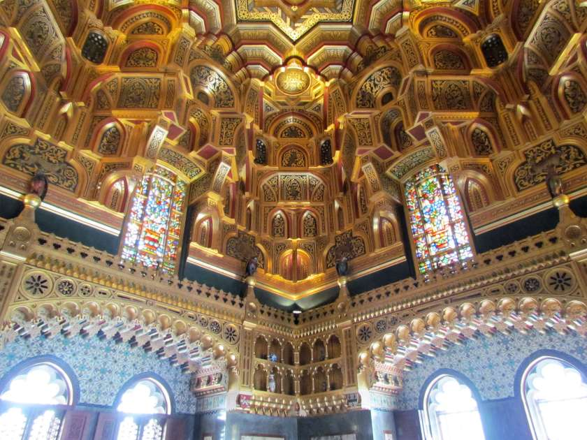 Cardiff Castle - elaborate ceiling