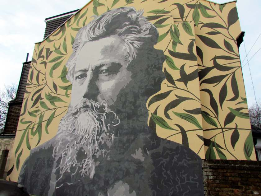 William Morris mural - A Day in Walthamstow - Inverted Sheep