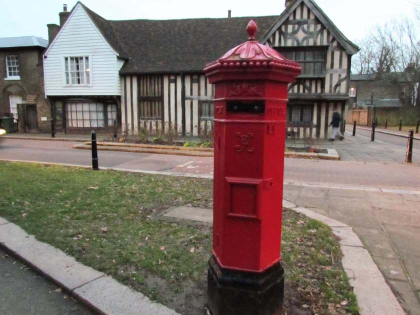 A Day in Walthamstow - The Ancient House and Penfold letter box- Inverted Sheep