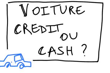 credit automobile ou cash