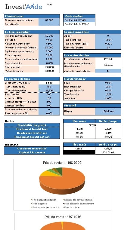investissement immobilier xls