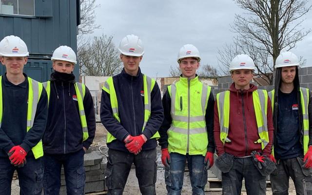 Gainsborough Apprentices on a construction site