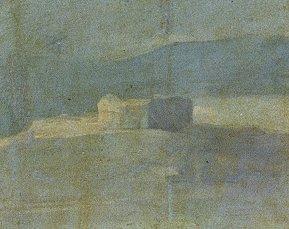 "Fig. 3b-Detalle arquitecturas del cuadro ""La Cometa"" de Goya"