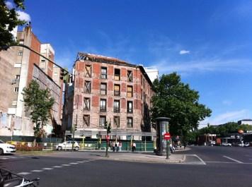 Fachada a la calle Alfonso XII del edificio Marqués de Villamejor