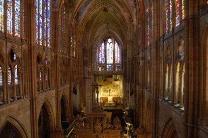 Vista del interior de la Catedral de León en la actualidad