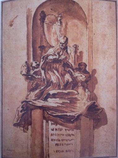 Gian Lorenzo Bernini: Proyecto para la tumba de Inocencio X, 1666.