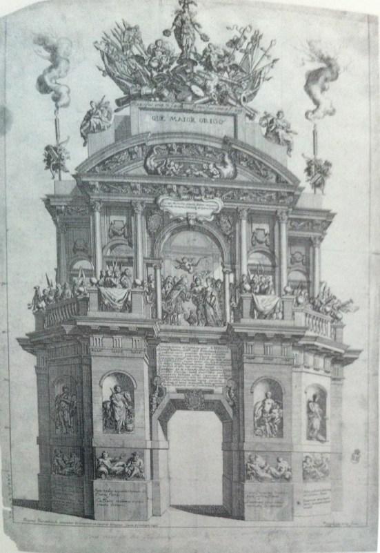 Jacobus Harrewyn: Arco levantado con ocasión del matrimonio entre Carlos II y Mariana de Neoburgo.