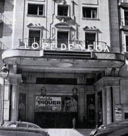 Antigua vista del Cine Lope de Vega en Gran Vía nº 57