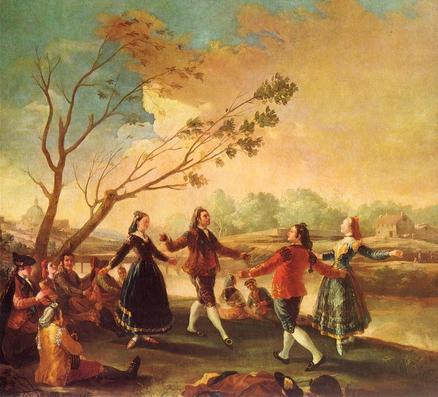 Francisco de Goya: Baile a orillas del Manzanares, 1776-1777. Museo Nacional del Prado, Madrid.