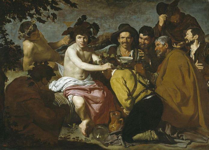 Diego de Silva y Velázquez: El triunfo de Baco o Los Borrachos. Madrid, Museo Nacional del Prado.