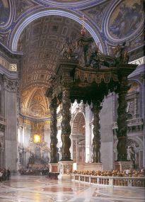 Gian Lorenzo Bernini: Baldquino. San Pedro del Vaticano, Roma.
