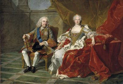 Louis Michel Van Loo: Retrato de Felipe V e Isabel de Farnesio. Museo Nacional del Prado, Madrid.