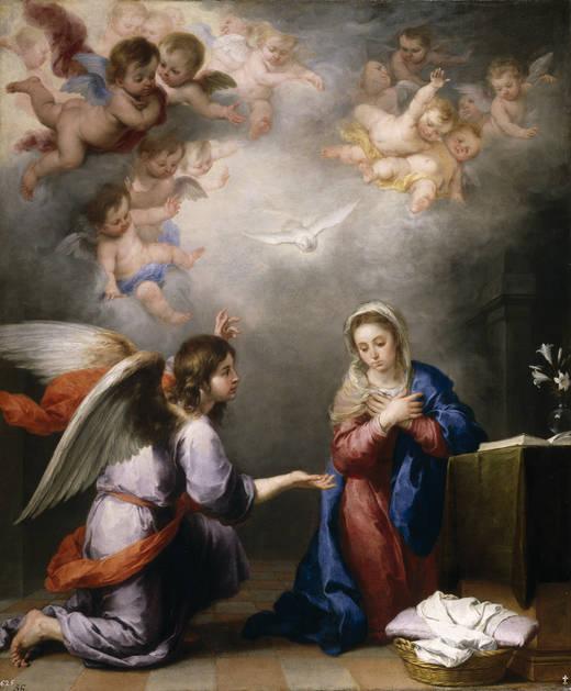 Bartolomé Esteban Murillo: Anunciación. Museo Nacional del Prado. Procedente de la colección de Isabel de Farnesio.