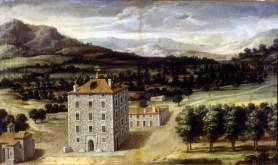 Anónimo: Vista de la Real Casa del Campillo. Patrimonio Nacional.