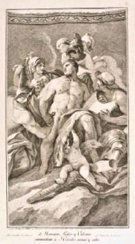 Mercurio, Palas y Vulcano suministran a Hércules armas y valor. Museo Cerralbo, Madrid.