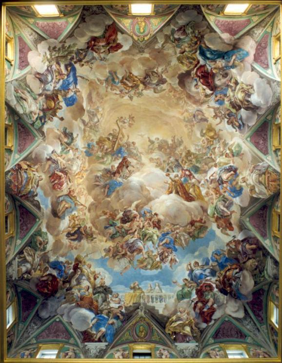 Luca Giordano: Bóveda de la Escalera de El Escorial. Monasterio de San Lorenzo de El Escorial, Madrid.