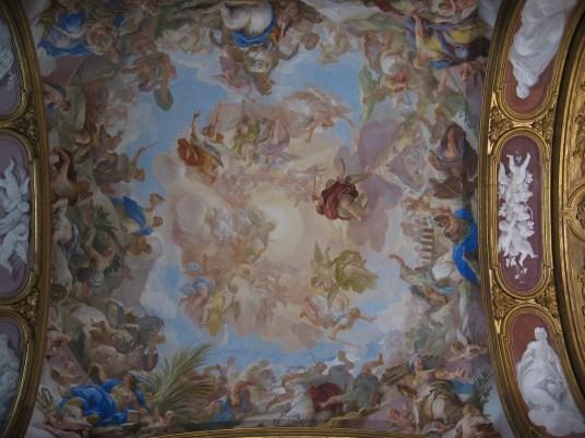 Luca Giordano: Judith y Holofernes, detalle e la Bóveda de la Cartuja de San Martino, Nápoles.