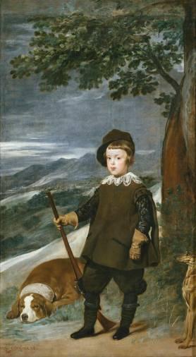 Diego Rodríguez de Silva y Velázquez: Baltasar Carlos de cazador. Madrid, Museo Nacional del Prado.