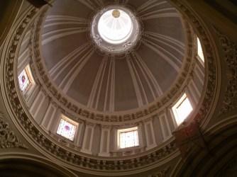Interior de la cúpula de las Comendadoras de Santiago, Madrid.