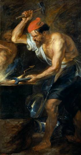 Pedro Pablo Rubens: Vulcano fornjando los rayos de Júpiter. Madrid, Museo Nacional del Prado.