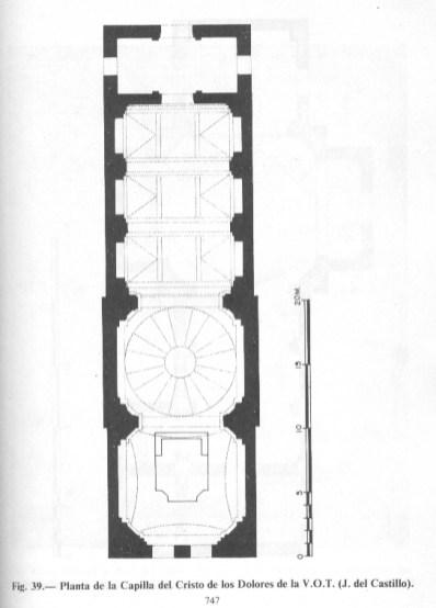 Planta de la Capilla de Venerable Orden Tercera.
