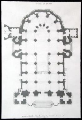 Planta de la Catedral de Málaga.