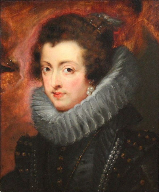 Pedro Pablo Rubens?: Retrato de Isabel de Borbón. Óleo sobre tabla. 48,5x40,5 cm. Viena, Kunsthistorisches Museum.