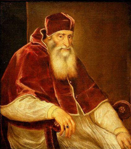 Tiziano Vecellio: Retrato de Paulo III. Viena, Kunsthistorisches Museum.